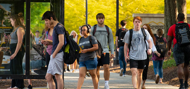 Students around the Kennesaw Campus